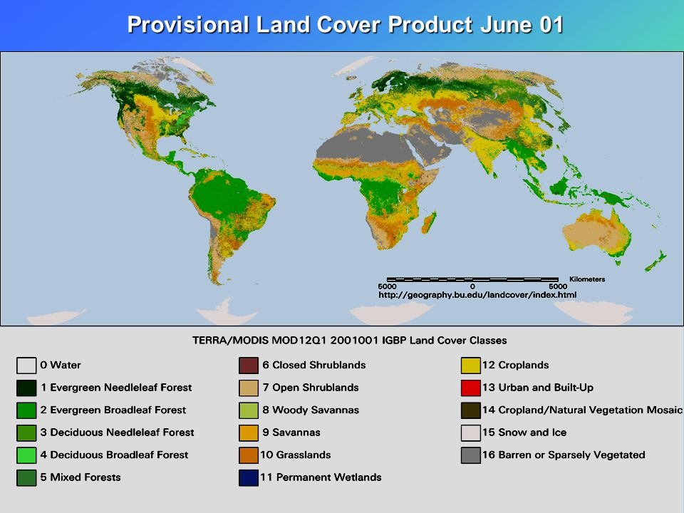 Provisional Land Cover Product June 01