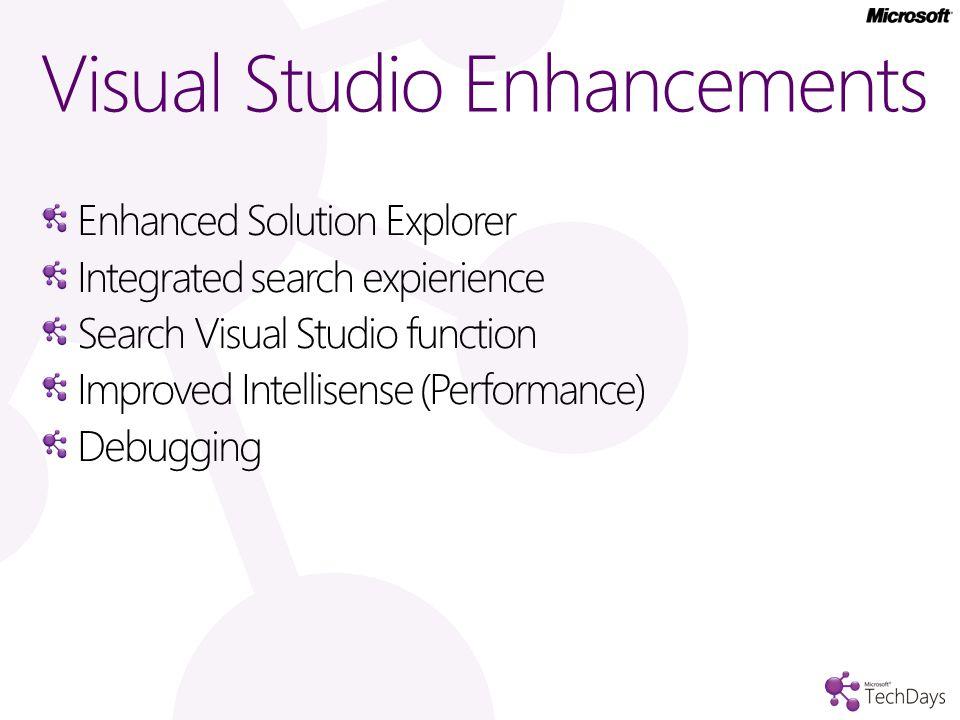 Visual Studio 11 enhancements demo…