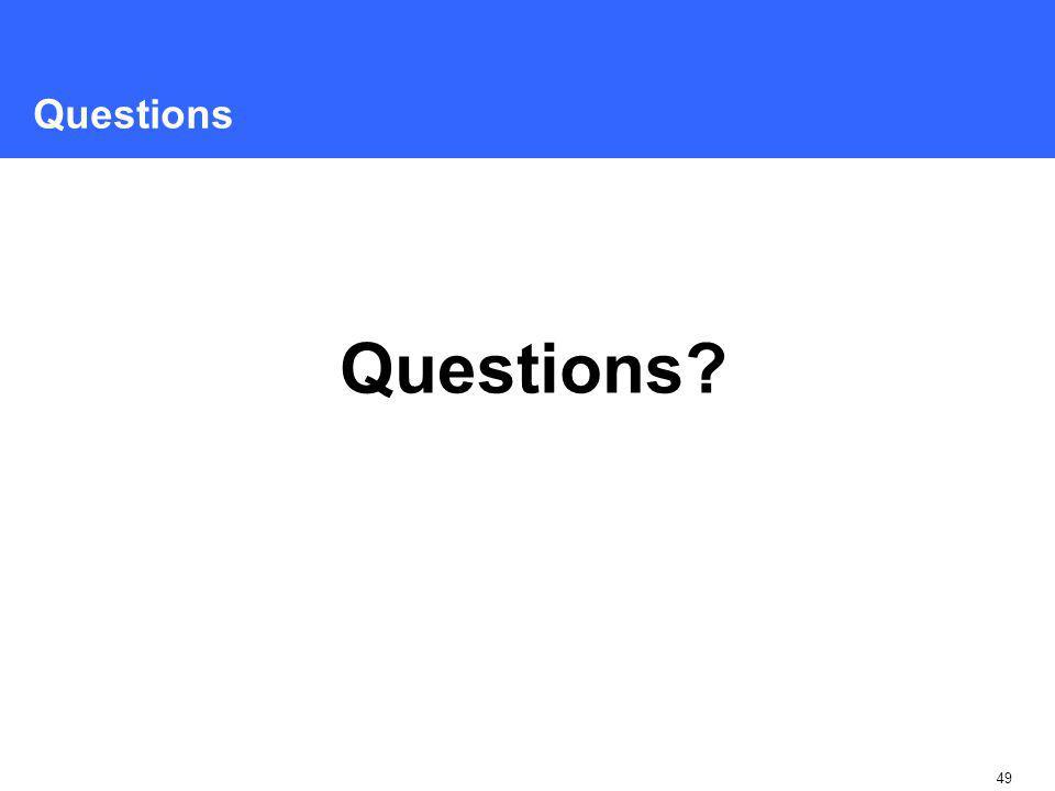 49 Questions Questions