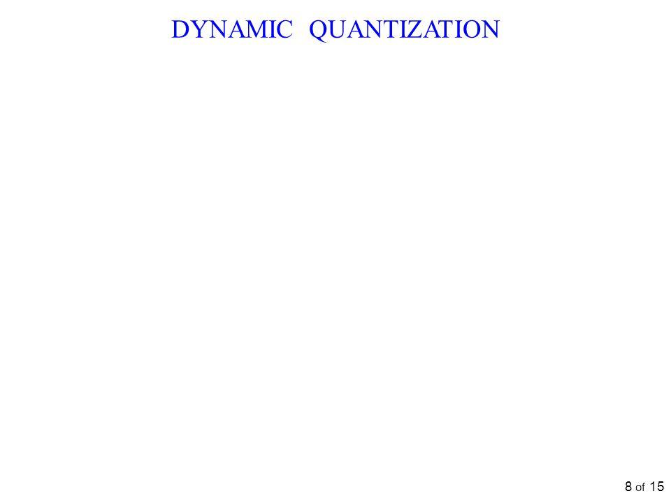 DYNAMIC QUANTIZATION 8 of 15