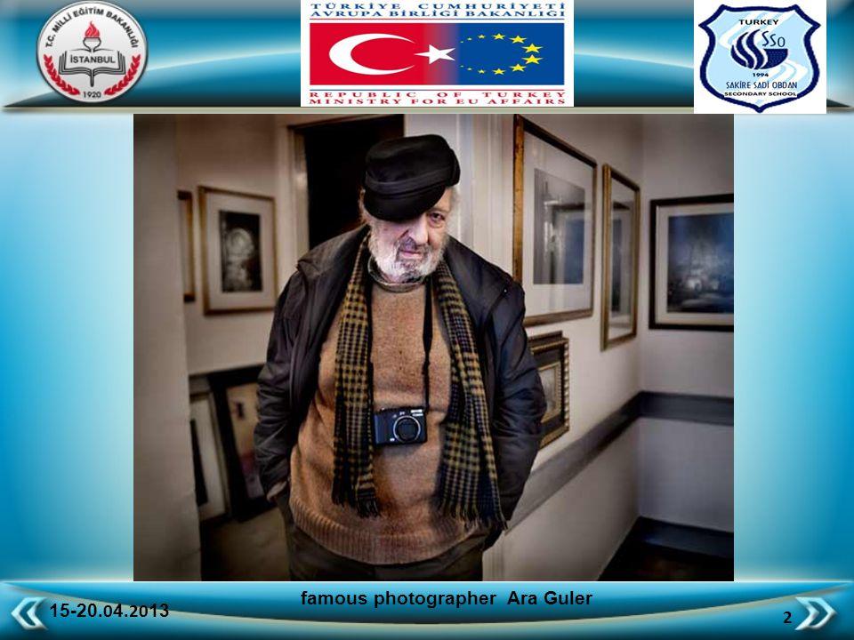 15-20.0 4.20 13 13 famous photographer Ara Guler around the world