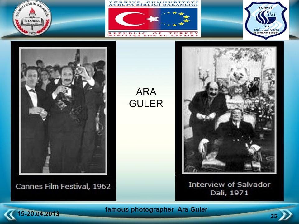 15-20.0 4.20 13 25 famous photographer Ara Guler ARA GULER