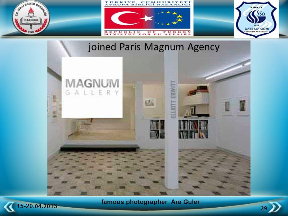 15-20.0 4.20 13 29 famous photographer Ara Guler joined Paris Magnum Agency