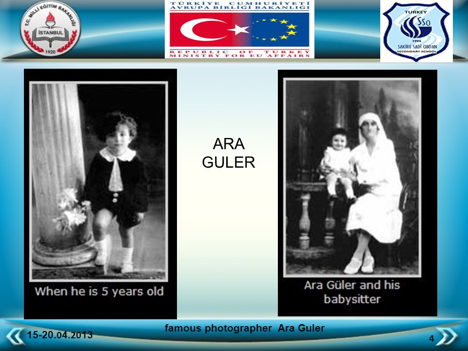 15-20.0 4.20 13 65 famous photographer Ara Guler Anatolia