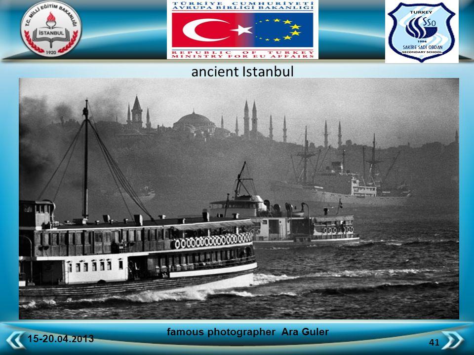 15-20.0 4.20 13 41 famous photographer Ara Guler ancient Istanbul
