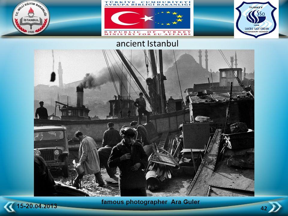 15-20.0 4.20 13 42 famous photographer Ara Guler ancient Istanbul