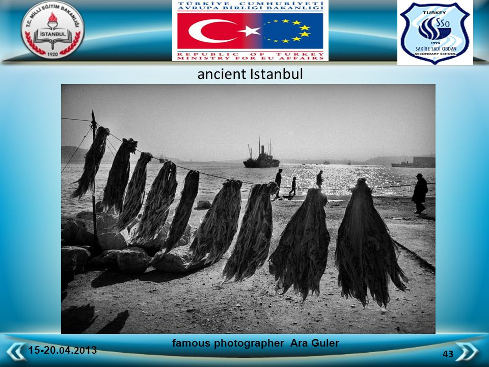 15-20.0 4.20 13 43 famous photographer Ara Guler ancient Istanbul