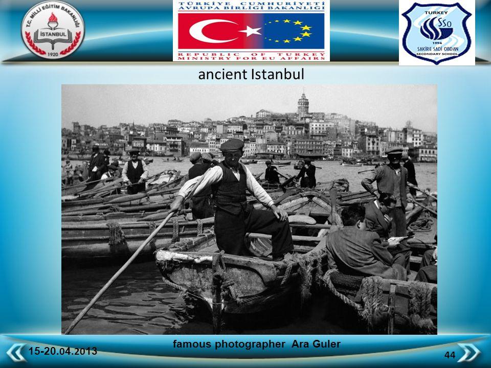 15-20.0 4.20 13 44 famous photographer Ara Guler ancient Istanbul