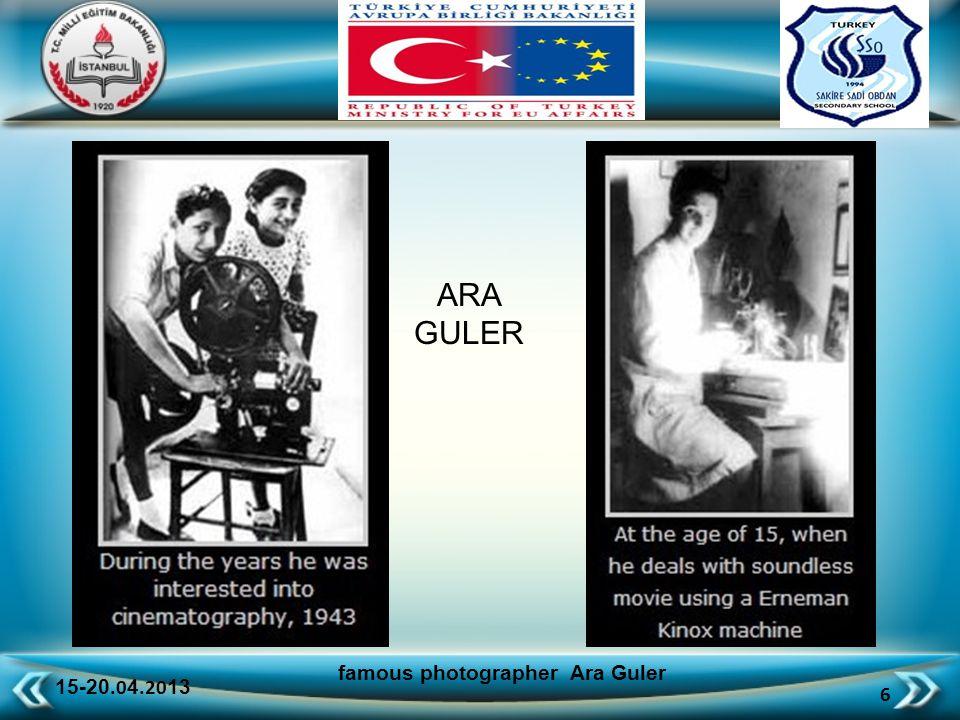 15-20.0 4.20 13 7 famous photographer Ara Guler ARA GULER in 1948 Ara Güler was hired as a photographer