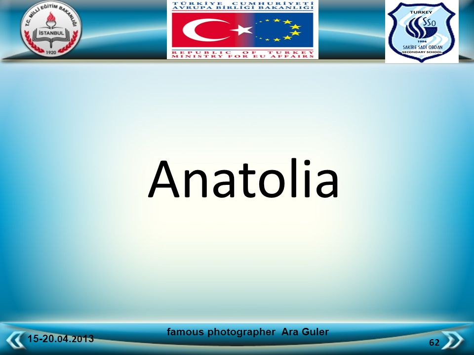 15-20.0 4.20 13 62 famous photographer Ara Guler Anatolia