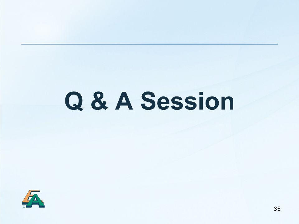35 Q & A Session
