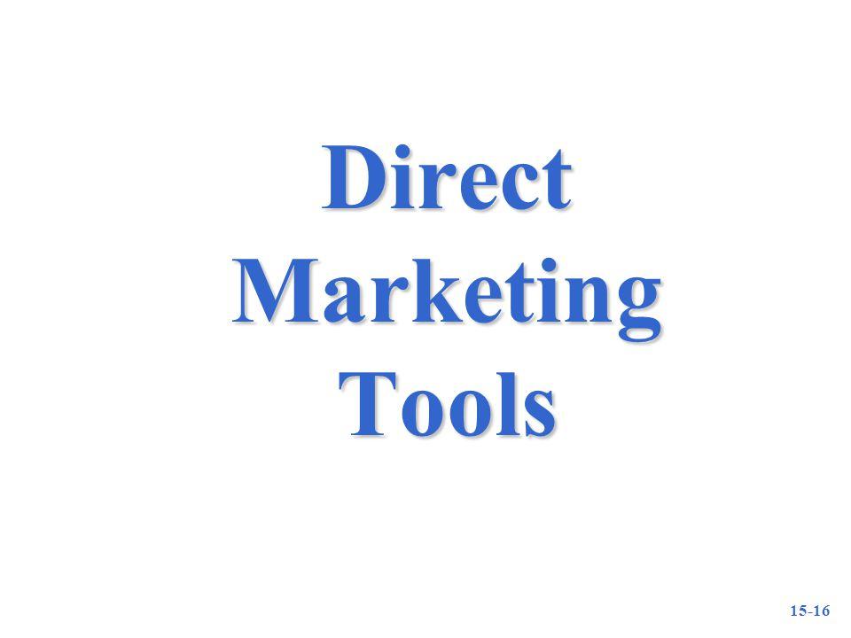 15-16 Direct Marketing Tools
