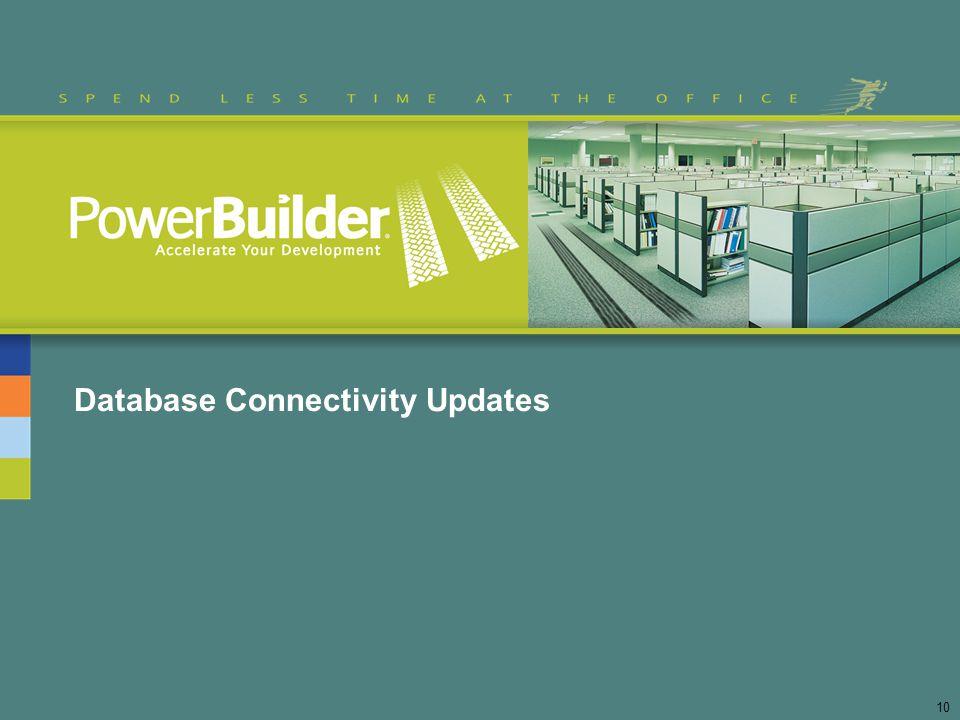 Database Connectivity Updates 10