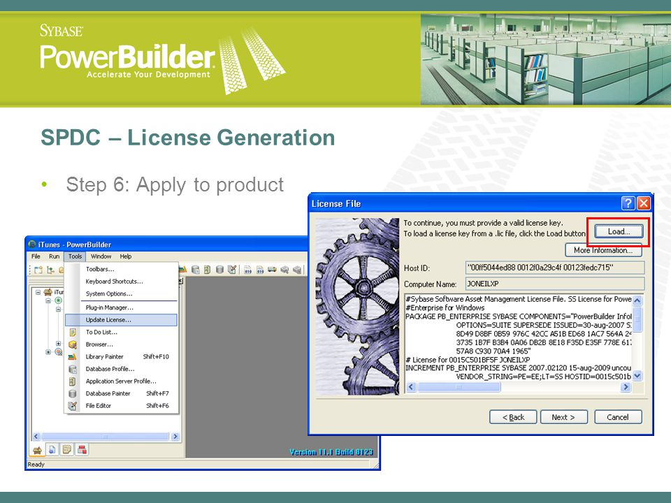 SPDC – License Generation Step 6: Apply to product