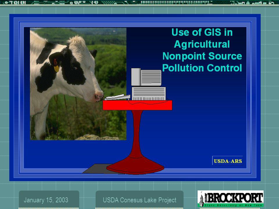 January 15, 2003USDA Conesus Lake Project (1996)