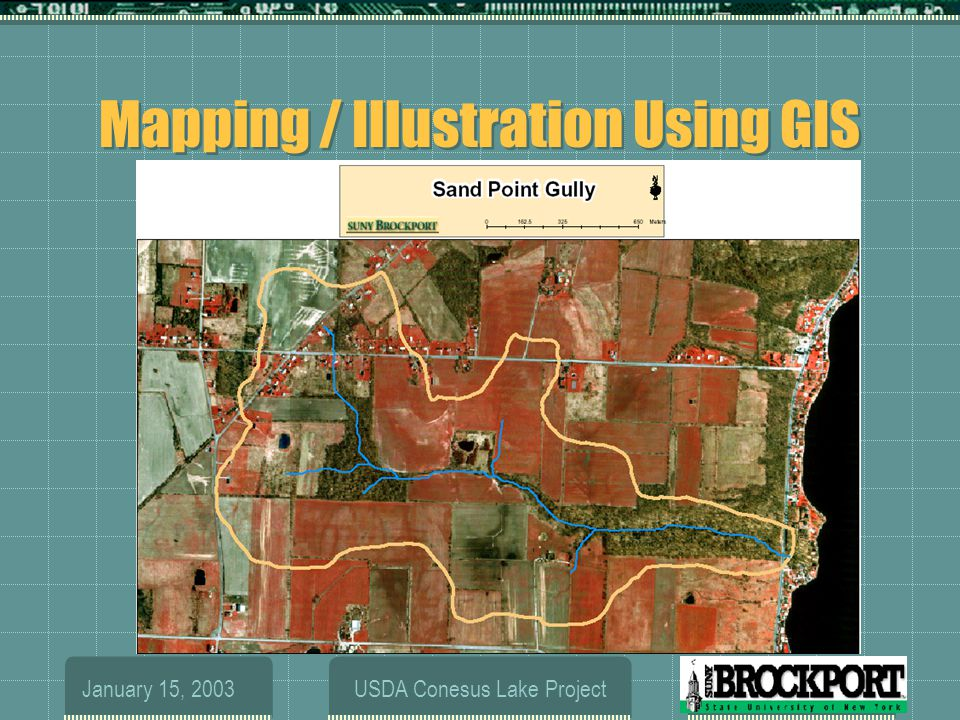 January 15, 2003USDA Conesus Lake Project Overview  Brief Biography  Mapping and Illustration Using GIS  Computation of P-Index  Runoff and Soil Moisture Modeling with SMR  Hydrologic and Chemical Controls on P Export  previous results  new directions