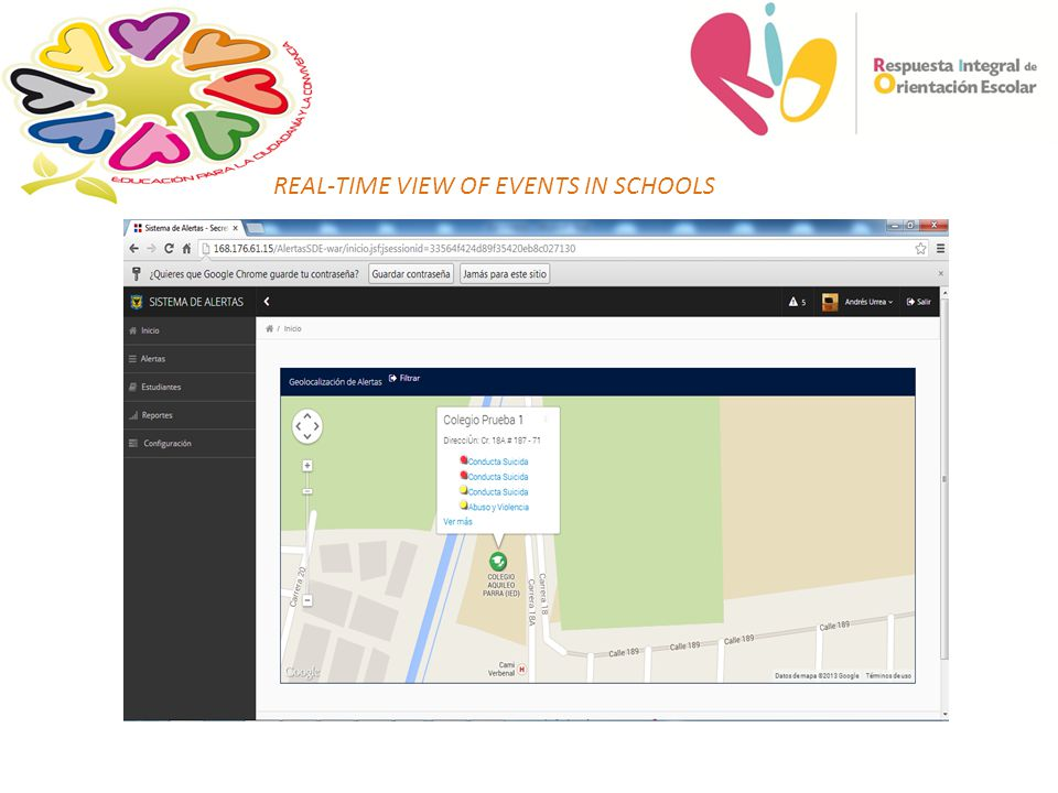 REAL-TIME VIEW OF EVENTS IN SCHOOLS