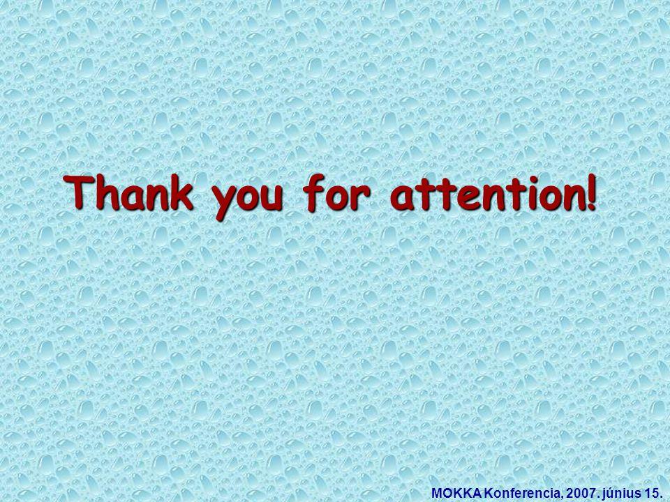 Thank you for attention! MOKKA Konferencia, 2007. június 15.