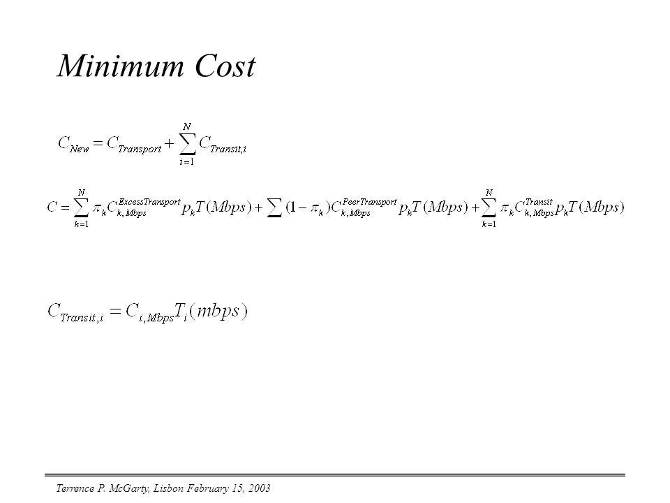 Terrence P. McGarty, Lisbon February 15, 2003 Minimum Cost