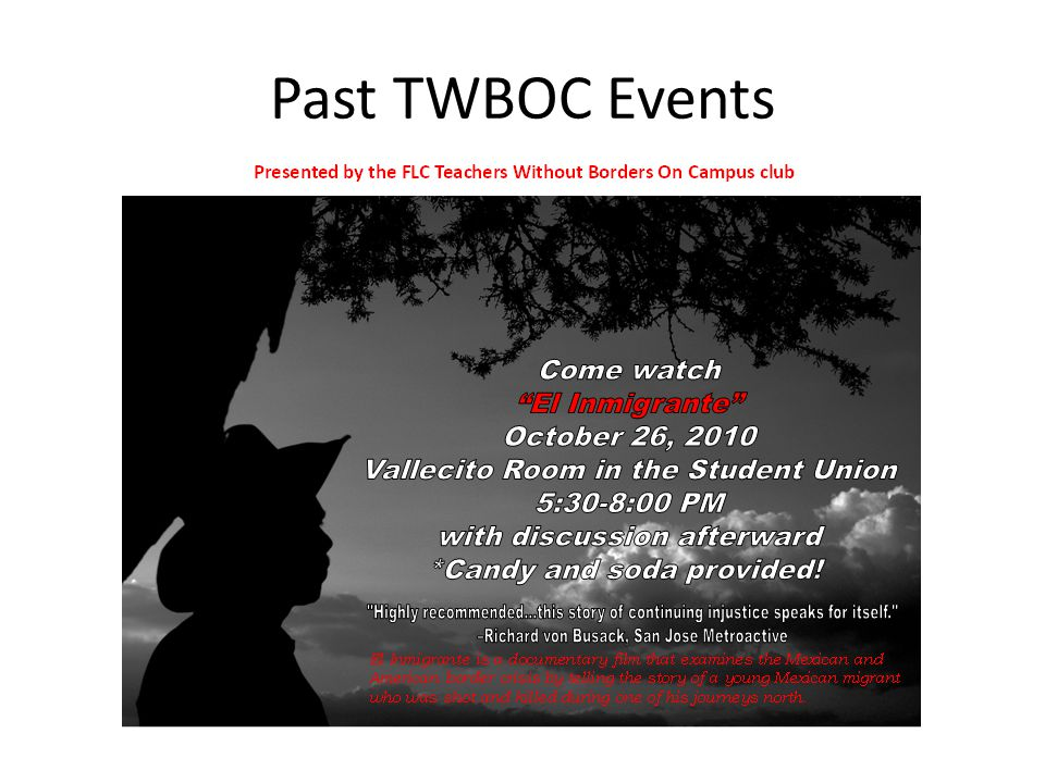 Past TWBOC Events