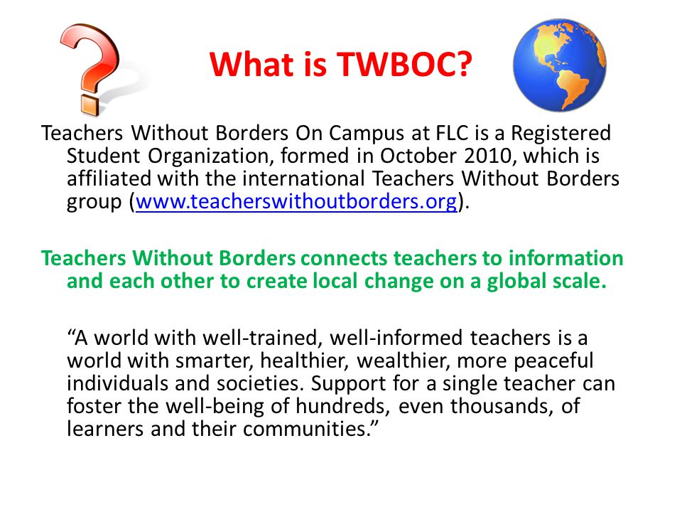 What is TWBOC.