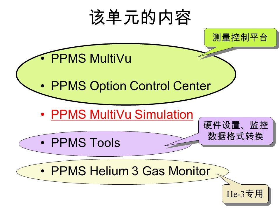 PPMS Status Bar_MultiVu 程序 温度 磁场 样品室 MultiVu