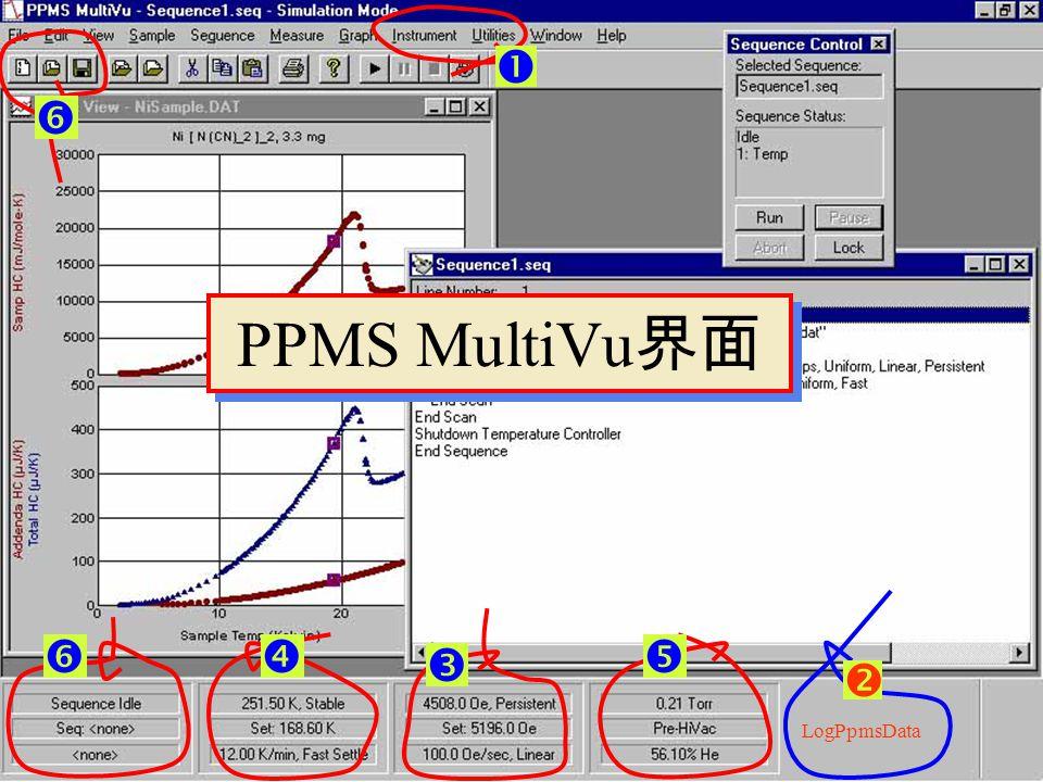 PPMS MultiVu 界面 界面以及各菜单中的内容在不同的状态会有些不同 PPMS MultiVu PPMS MultiVu_Simulation Mode Option Activated 界面以及各菜单中的内容在不同的状态会有些不同 PPMS MultiVu PPMS MultiVu_Simulation Mode Option Activated