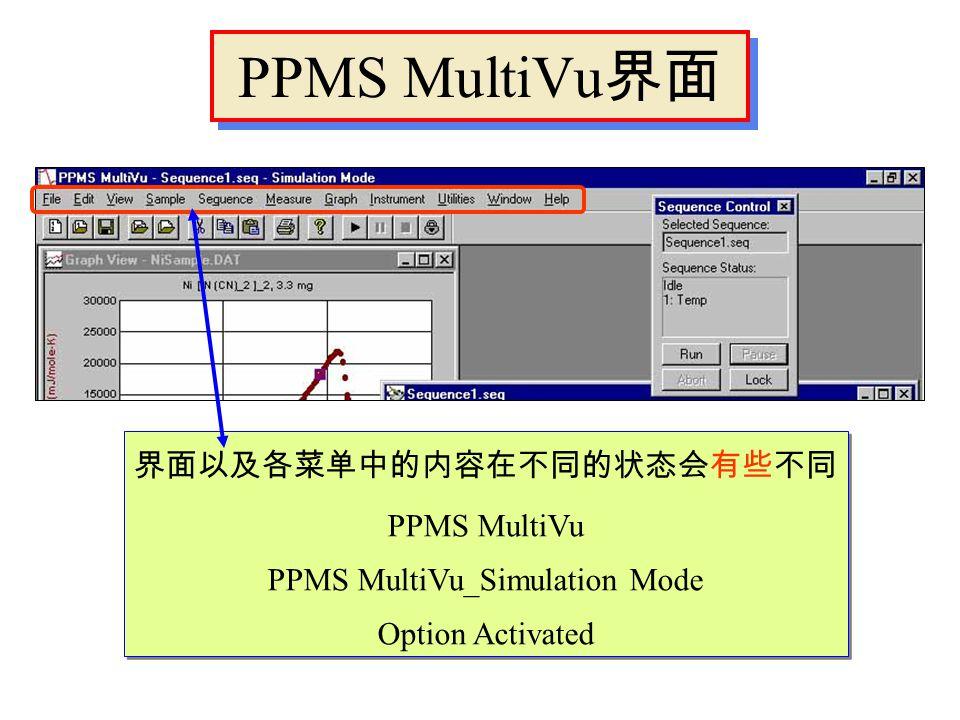 几个命令 Wait Scan Time Shutdown Magnet Reset Sequence Uniform mode 等间隔 ln(t) mode 对数间隔 No Action 等待 Shutdown 关闭温控 Abort 停止程序