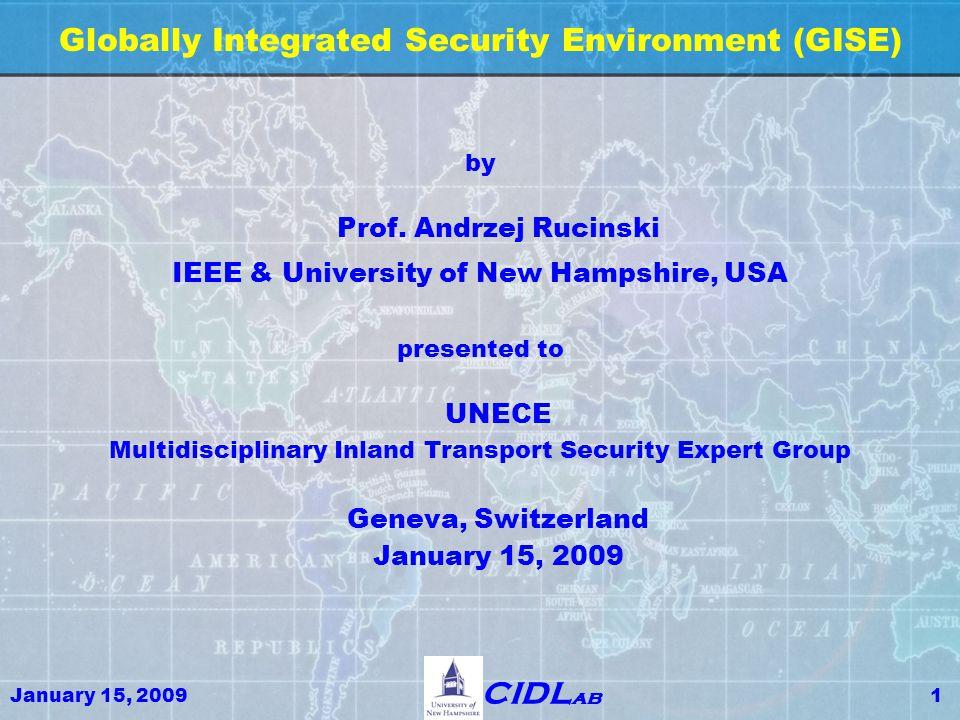 January 15, 200932 CIDL ab Global Security Transportation: Political Sphere