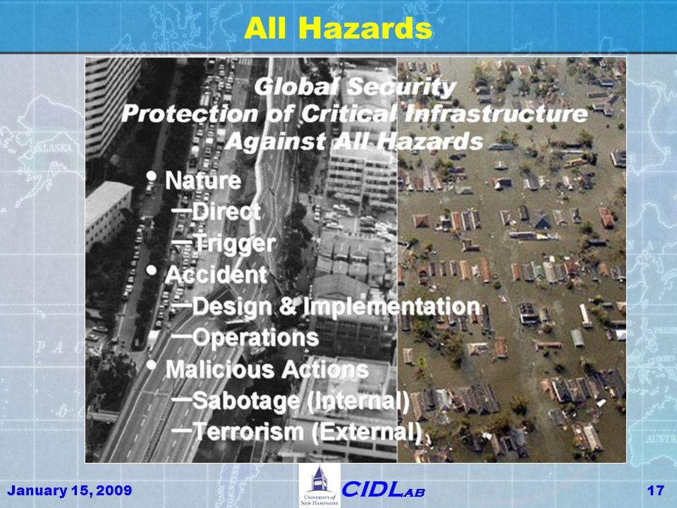 January 15, 200917 CIDL ab All Hazards