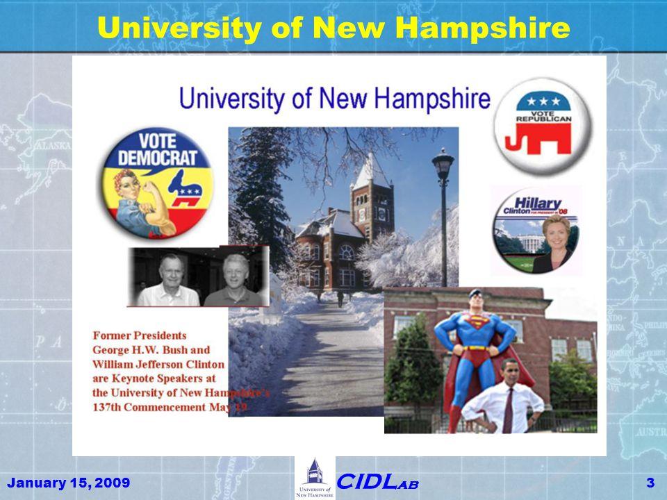 January 15, 20094 CIDL ab University of New Hampshire