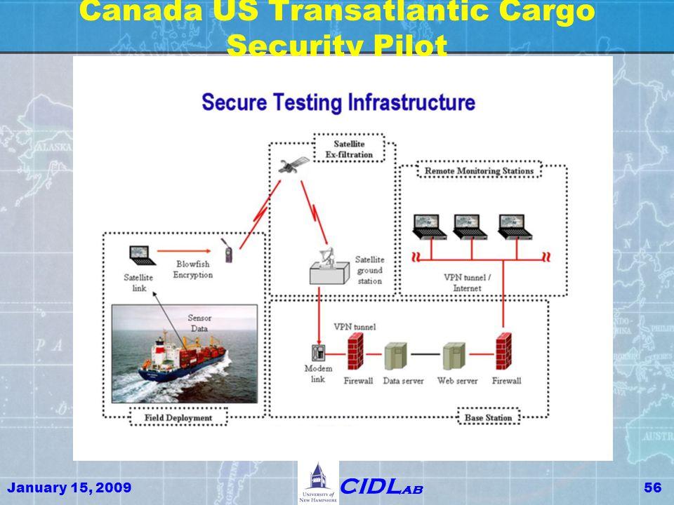 January 15, 200956 CIDL ab Canada US Transatlantic Cargo Security Pilot