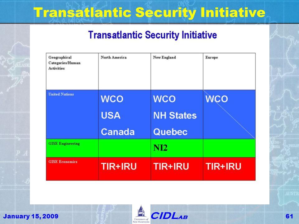 January 15, 200961 CIDL ab Transatlantic Security Initiative