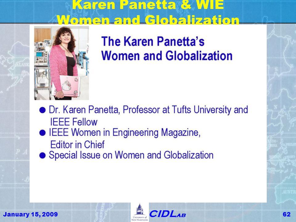 January 15, 200962 CIDL ab Karen Panetta & WIE Women and Globalization