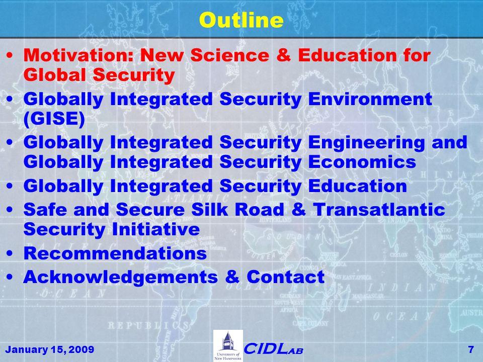 January 15, 200928 CIDL ab Global Maritime Domain Awareness