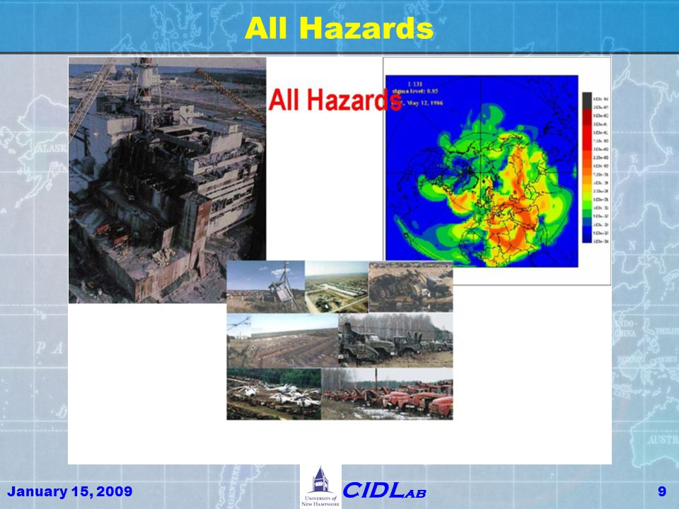 January 15, 200940 CIDL ab GIS Engineering & GIS Economics Adaptive Global Risk Assessment Better Security ↔ Better Commerce Open Critical Infrastructure Dependable Architecture = Open Architecture Supply Chain Security System Trustworthy Design, Implementation and Operation of Critical Infrastructure Dependable Systems