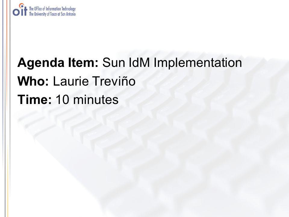Agenda Item: Q & A Who: Carolyn Ellis Time: 15 minutes