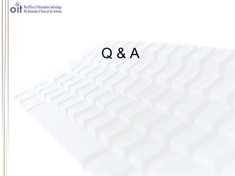 Agenda Item: UTSA / UTHSCA WebCT CE 6 Collaboration Who: Alfredo Zavala Time: 15 minutes