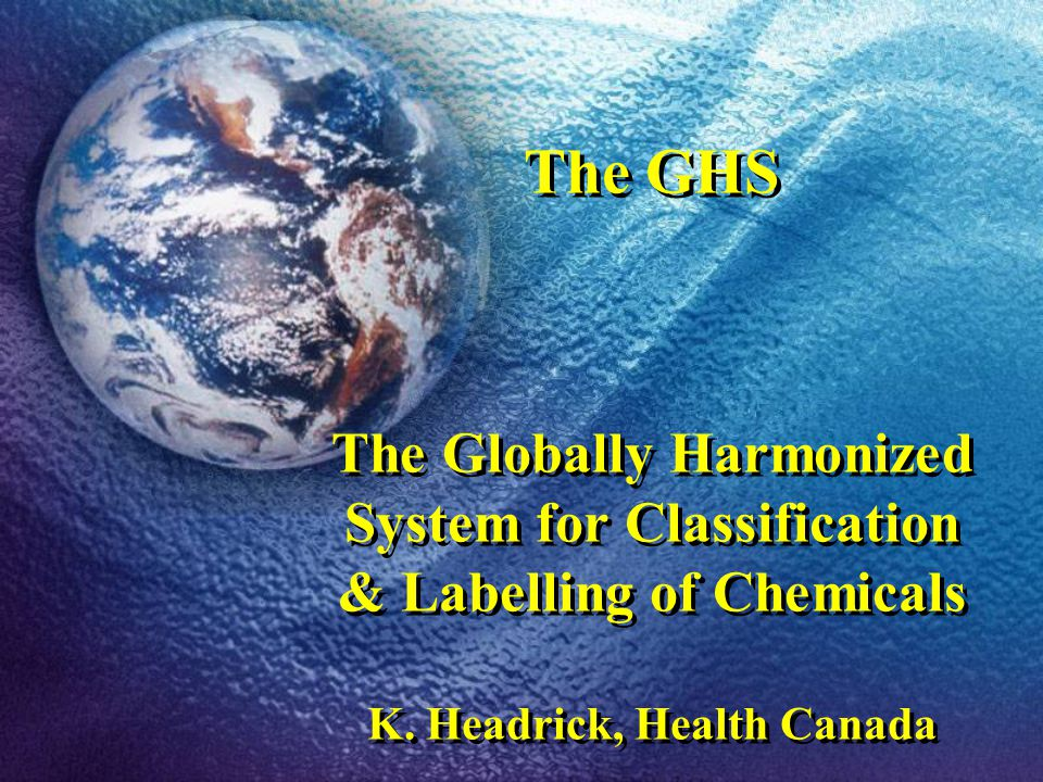 Canadian Implementation of the GHS