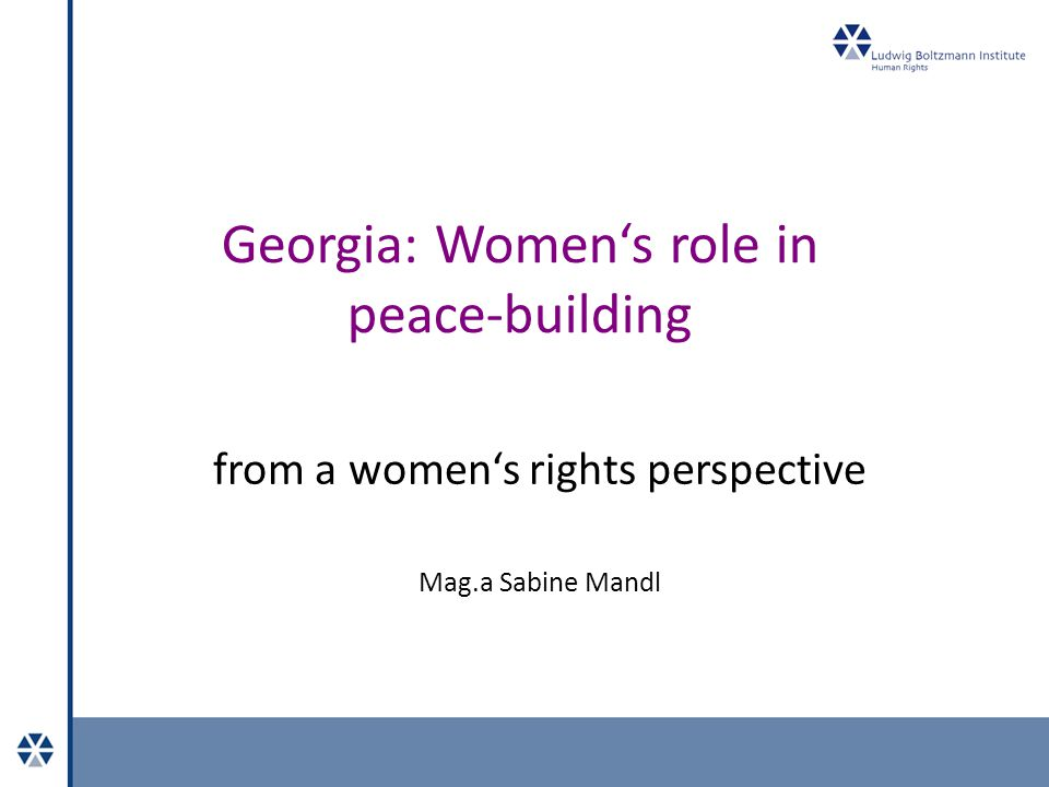 Women's rights in Georgia 2 International level: UN-Convention on the Elimination of All Forms of Discrimination against Women, 1979 Beijing Declaration and Platform for Action, 1995 Millenium Development Goals and Millenium +5 Summit Declaration UN Security Council Resolution 1325 and following