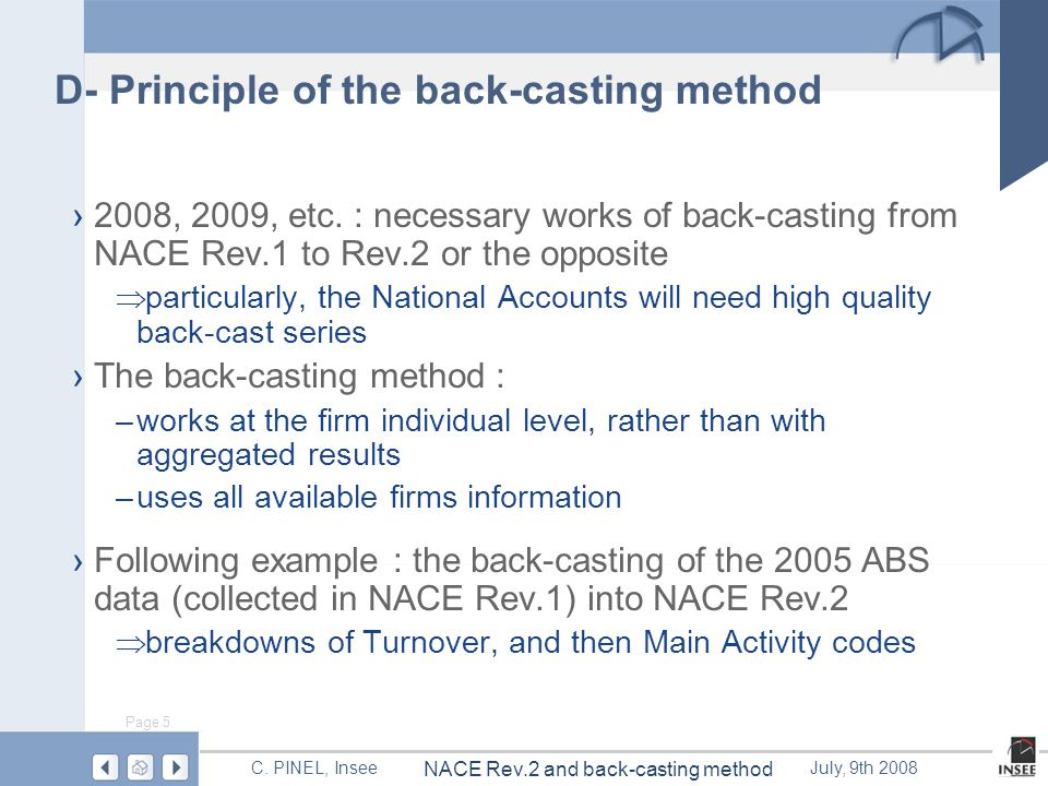 Page 5 NACE Rev.2 and back-casting method C.