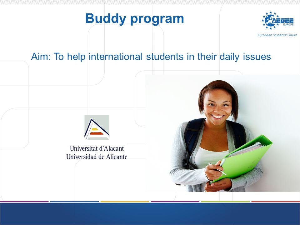 Buddy program How can Buddy Program help you.