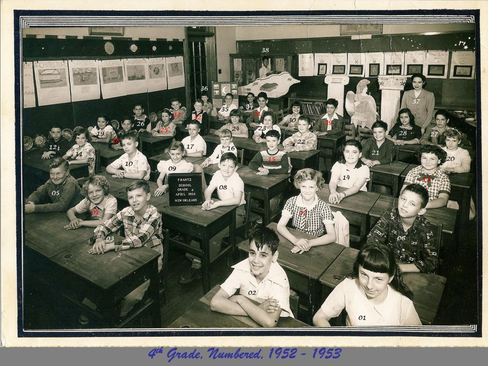 4 th Grade, Numbered, 1952 - 1953