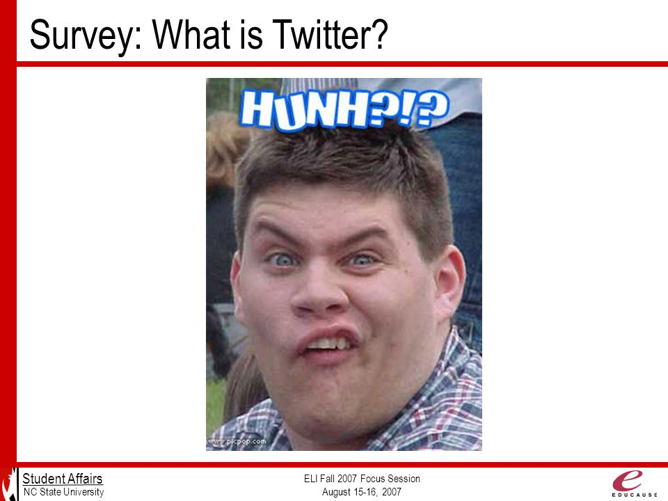 Survey: What is Twitter.