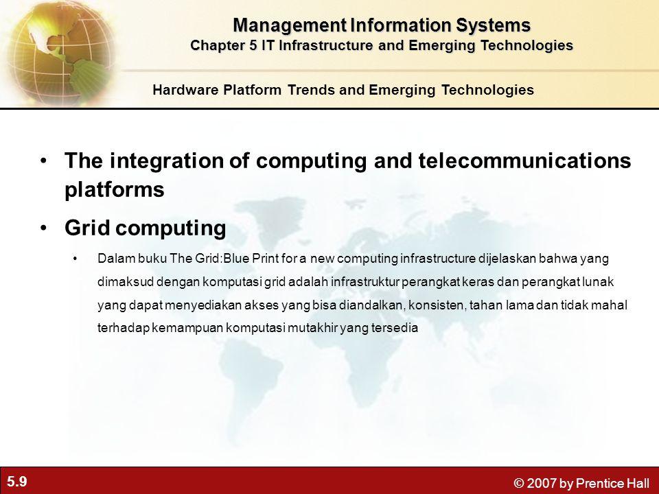 5.10 © 2007 by Prentice Hall On-demand computing (utility computing) adalah komputasi model bisnis yang memungkinkan perusahaan untuk menyediakan akses ke sumber daya komputasi sesuai keperluan.
