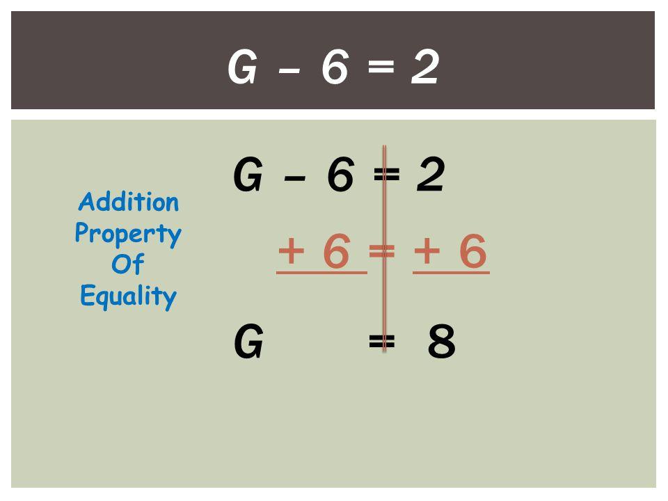 6.6 = W – 1.2 +1.2 = +1.2 7.8 = W