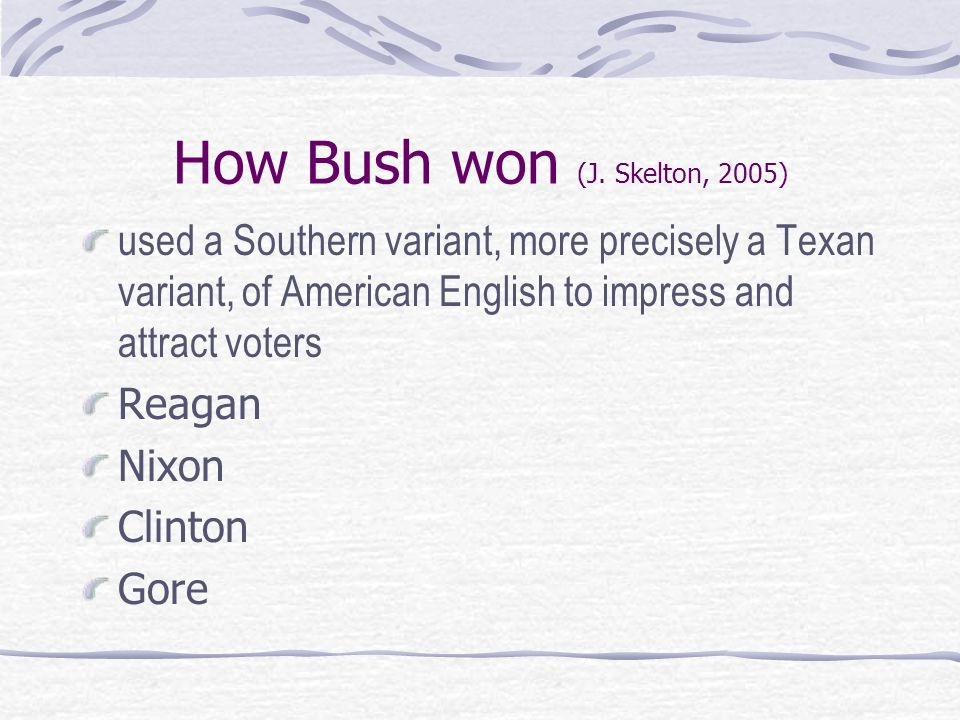 How Bush won (J.
