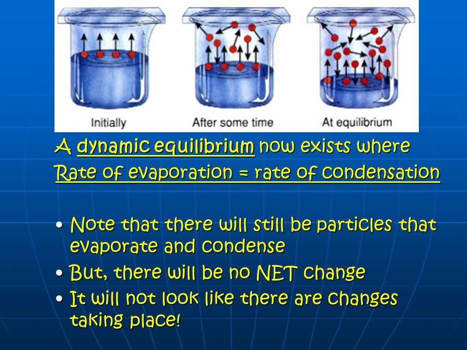 The Nature of Liquids Eventually the particles will lose energy and return to the liquid state, or condense.