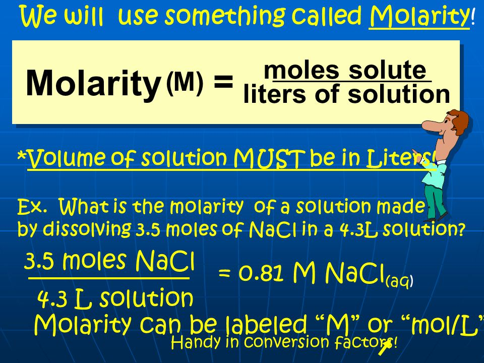 Concentrations of Solutions The amount of solute in a solution is given by its concentration.