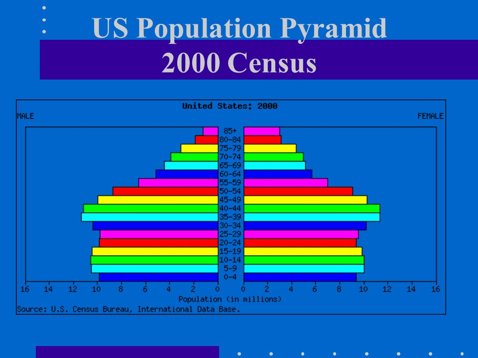 US Population Pyramid 2000 Census